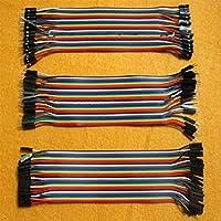 CHENGYIDA 3 x40PCS 2.54mm 30cm 多色デュポンワイヤー、arduino用、オス-メス オス-オス メス –メス ブレッドボードジャンパーワイヤー
