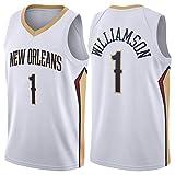 Jersey de Baloncesto de Zion Williamson para Hombres, Pelícanos de Nueva Orleans 2020/21 Swingman Jersey - Edición de Iconos (S-XXL) White-XL
