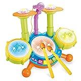 XINRUIBO Tambor de Tambor de Jazz Grande Tambor de Instrumentos Musicales con micrófono Juguetes educativos de la Primera Infancia Tambor electronico (Color : Multicolored)