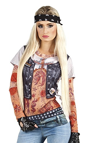 Boland 84253 Photorealistisches Shirt Biker Girl, L