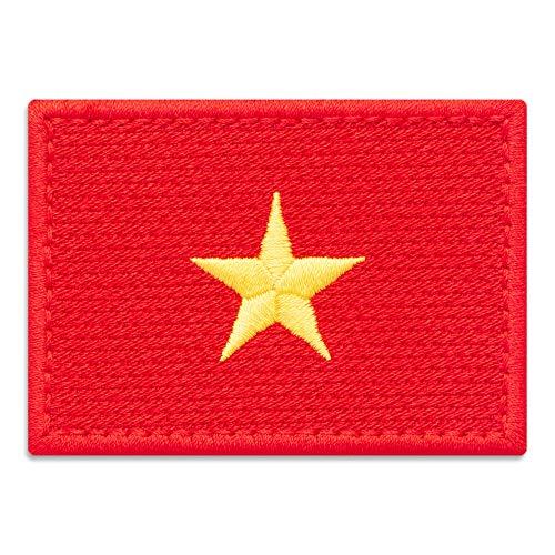 Vietnam-Flagge Aufnäher zum Aufbügeln (7,1 x 5,1 cm)