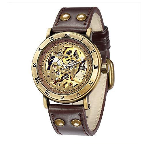 SJXIN Hochwertige mechanische Uhr, SHENHUA / 9584 Männer automatische mechanische Uhr Gürtel hohlen Uhr (Color : 1)