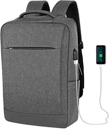 Laptop Backpack 15.6 Inch Computer Water Resistant Backpack with USB Charging Port Laptop Bag for Travel Business Women Men 32 x 10 x 46 cm-C