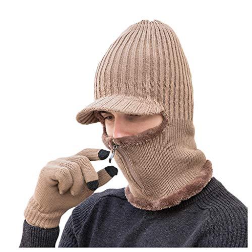MOVERV-Gorra de Lana Unisex,Máscara de Esquí a Prueba de Viento para Clima Frío,Protección para Cuello Al Hacer Deporte Al Aire Libre o Andar En Motocicleta