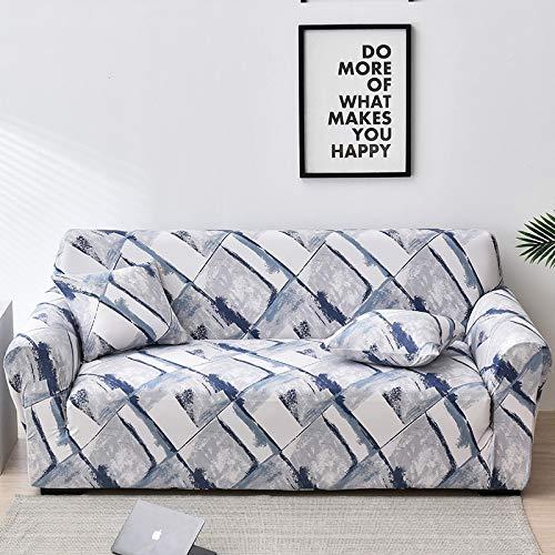 ASCV Funda de sofá Floral elástica Fundas de sofá elásticas para Sala de Estar Funda sofá Protector de Muebles Fundas sofás con Chaise Longue A3 1 Plaza