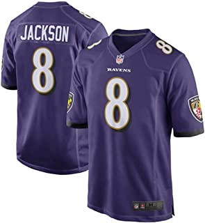 Men's #8 Lamar Jackson Baltimore Ravens Game Jersey – Purple
