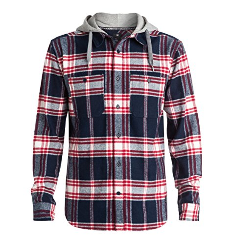 DC Shoes EDYWT03042 - Chemise casual - Taille normale - Manches longues - Homme - Multicolore (Hood Up Blue Iris) - 37 (Taille fabricant: XS)