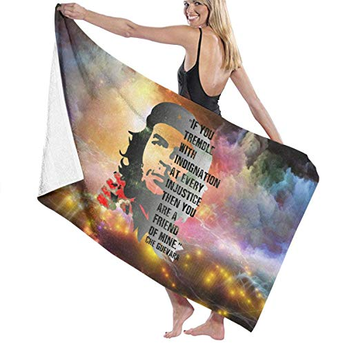 huatongxin Che Guevara Admirer Revolutionary Quote Meme Toalla de baños Absorbent Hotel SPA Towel Soft Blanket (32in 52in)