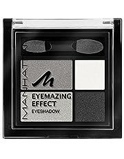 Manhattan Eyemazing Effect Oogschaduw, set van 4 glinsterende oogschaduwkleuren voor Smokey Eyes, kleur Smokey Smile 109A, verpakking van 3 stuks (3 x 5 g)