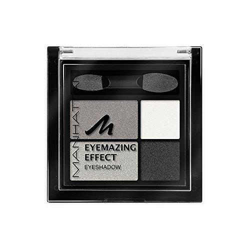 Manhattan Eyemazing Effect Eyeshadow – Schmink-Palette aus vier schimmernden Lidschatten-Farben für Smokey Eyes – Farbe Smokey Smile 109A – 3er-pack (3 x 5 g)