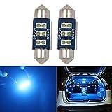 HSUN 36MM Festoon C5W LED Ampoule Bleu Glacier 6411 6413 6418 6461 6486X DE3423 DE3425 6LED SMD3030 pour Lampe de Lecture de Dôme Intérieur de Voiture,Paquet de 2