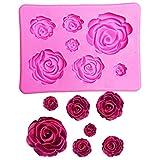 TrifyCore Rose Blume Silikon Clay Seife Form Fondant Sugarcraft Kuchen dekorieren