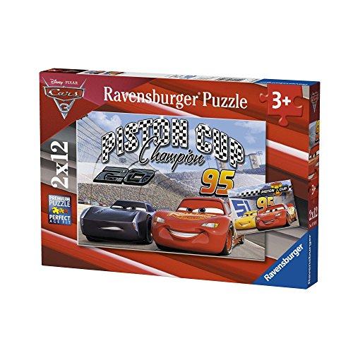 Ravensburger–07609–Lot de 2Puzzles–12-teilig–Piston Cup Cars 3–Disney