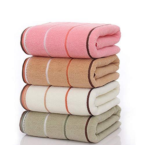 Ensemble de serviettes de bain 100 % coton peigné - Serviettes de spa super absorbantes et ultra douces en coton