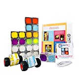 TACTBiT Toddlers Steam Toy Best Cube Set of 24 - Snap Light Invent - The World's First Electronic-Magnetic Light UP STEAM Blocks - Perfect for STEAM Learning