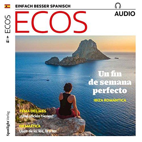 ECOS Audio - Un fin de semana perfecto: Ibiza romántica. 6/2018     Spanisch lernen Audio - Das perfekte Wochenende: Romtisches Ibiza              By:                                                                                                                                 Covadonga Jimenez                               Narrated by:                                                                                                                                 div.                      Length: 58 mins     Not rated yet     Overall 0.0