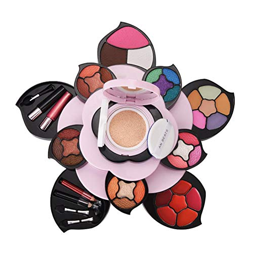 Multifonctionnel Maquillage Palette Fard À Paupières Rouge À Lèvres Correcteur Plaque Débutant Maquillage Kit Cadeau Ensemble Rotatif Grande Fleur Maquillage Ensemble
