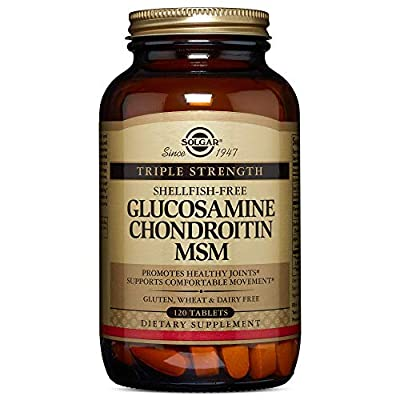 Solgar Extra Strength Glucosamine Chondroitin MSM Tablets - Pack of 120