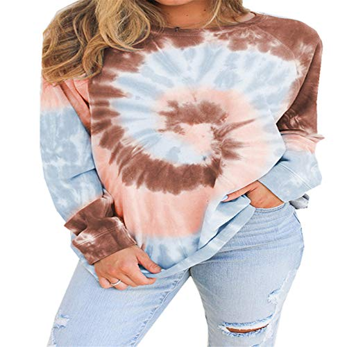 Autumn and Winter Gradient Tie-Dye Long-Sleeved Loose Sweater Women
