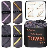 Dofilachy 4 Pack Camping Towel - Camping Towels Quick Dry Towel Microfiber Travel...
