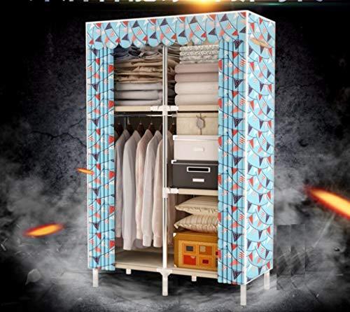 AYUANCHUN Eenvoudige doek garderobe - Eenvoudige moderne economische stof enkele kast, Staal frame opslag kleding kast/vouwkast,Extreem duurzaam, 66.1inx 43.3inx 17.7in