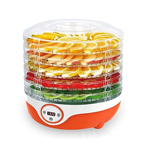 Fantastic Prices! SMLZV 5 Tray Food Dehydrator - for Beef Jerky,Herbs,Fruit Meat and Spices