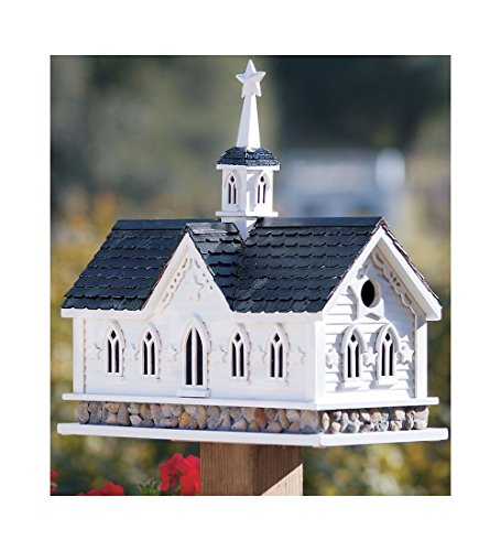 Wind & Weather Star Barn Birdhouse, Classic Dutch Style Barn, Pine Shingles, 2 Nesting Boxes