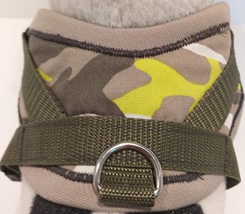 Masi Dogsdesign Gr. XS S M Softgeschirr Khaki Camouflage Hundegeschirr Brustgeschirr verstellbar Hunde Welpen Chihuahua Prager Rattler Yorkshire Terrier Zwergdackel Dackel Malteser (XS)