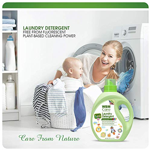 WBM Care Natural Liquid Baby Laundry Detergent, Gentle For Baby Sensitive Skin - 34 Oz, 100 Loads (2 Pack)