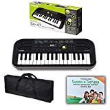 Kit Pianola Tastiera Casio SA46 (Fondo Verde) con Borsa con 2 maniglie e Metodo Rapido'Suona la Tastiera'