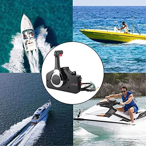 Control de motor fueraborda, control de acelerador de barco de aleación de aluminio CNC de montaje lateral con interruptor de llave, caja de control remoto fuera de borda Plug and Play para Honda