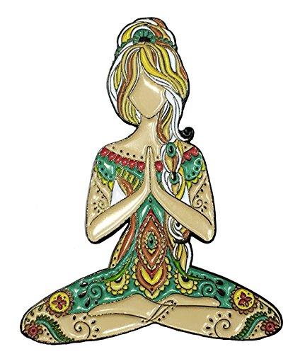 Yoga Girl Lotus Namaste Ceramic Enamel Lapel Pin