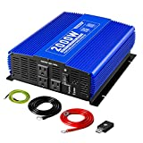 Kinverch 2000W Pure Sine Wave Inverter 12V DC to 110V AC Power Inverter for Car/Truck/RV with 3 AC Outlets &1USB Ports &Bluetooth Remote Control
