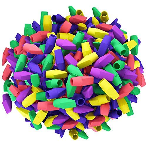 Paquete de 170 gomas de borrar para lápices, gomas de borrar divertidas con forma de cincel, varios colores
