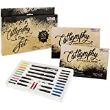 U.S. Art Supply 35 Piece Calligraphy Pen Writing Set - Interchangeable Nibs, Paper Pad, Instructions...