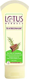 Lotus Herbals Tea Tree And Cinnamon Anti Acne Oil Control Face Wash, 80g