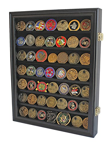 Lockable Military Challenge Coin Casino Chip Display Case ...