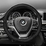 FH Group FH2002BLACK Steering Wheel Cover (Deluxe Full Grain...