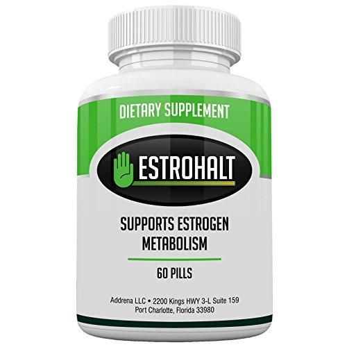 Estrohalt- DIM Supplement (Diindolylmethane) and Indole-3-Carbinol (I3C) Best Estrogen Blocker for Women & Men   Natural Aromatase Inhibitor Vitamin to Help PCOS, Menopause, and PMS