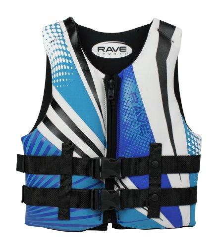 RAVE Sports Youth Neoprene Life Vest - USCG PFD (Blue/White/Black)