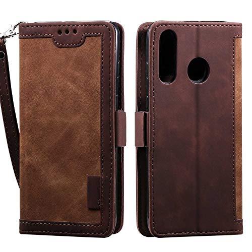 LAFCH Handyhülle Xiaomi Redmi Note 7 Hülle, Premium PU Leder Flip Schutzhülle für Xiaomi Redmi Note 7 mit Karteneinschub und Magnetverschluss, Braun