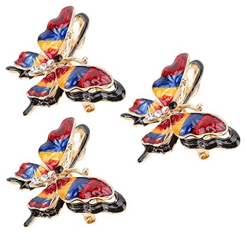 Deko-Anstecknadel, Klassisch Mehrfarbig Bleifrei Damen Brosche Nickelfrei für Töchter für Tanzpartys(rot)