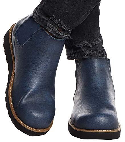 Leif Nelson Herren Schuhe Klassische Stiefel Freizeitschuhe Boots Elegante Winterschuhe Männer Sneakers LN159; 44, Dunkel Blau