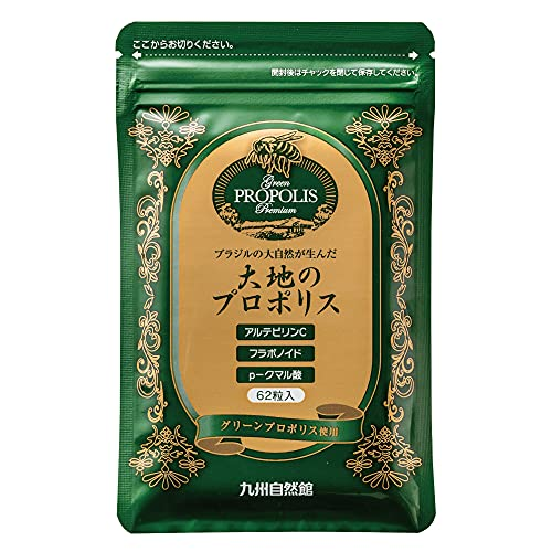 九州自然館 やずやグループ 大地のプロポリス 62粒/約1ヶ月分(パウチ) 茶色
