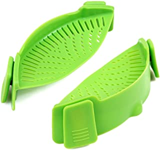 Cozihom Silicone Clip-on Stew-Pan Strainer, Pasta Strainer, Colander, for Pan Universal Size, Food Grade Material/Heat Res...
