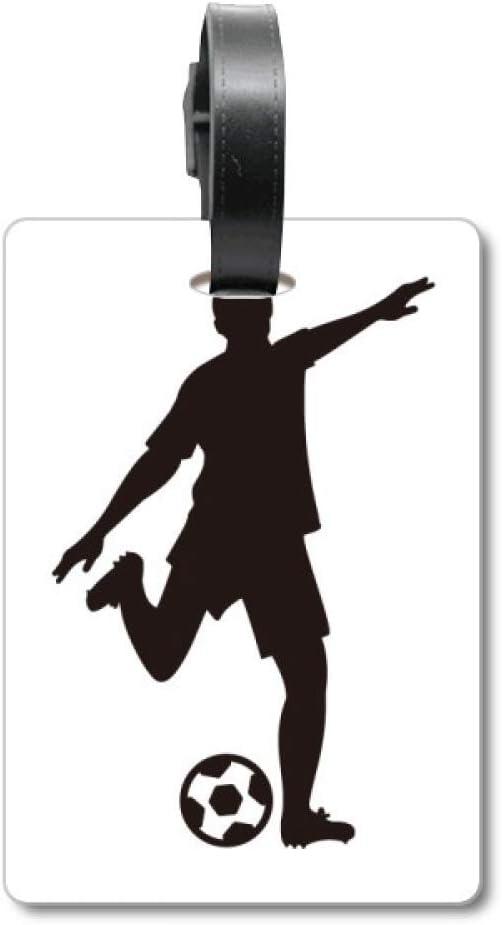 Etiqueta de identificación para Maleta de fútbol, Silueta de fútbol, para Deportes