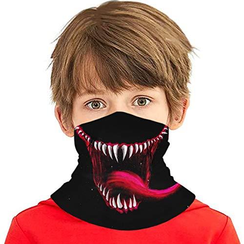 JIASHWULA Venom Face Bandana for Kids (6-14 Years), Protective Neck Gaiter Headband Balaclava for Dust Outdoors, 1