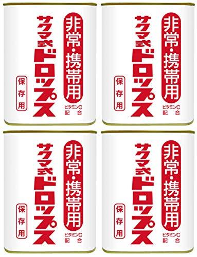 佐久間製菓 非常・携帯用 サクマ式ドロップス 保存用 4缶セット