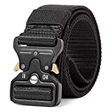 SAMTEC Tactical Belt for Men, 1.5 Inch Military Style Nylon Web Rigger Work Carry Tool Belts with Heavy-Duty Quick-Release Buckle