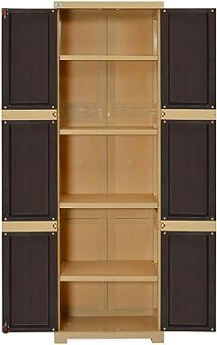 Nilkamal Freedom Mini Large (FML) Plastic Storage Cabinet (Weathered Brown & Biscuit)(35 x 59 x 182.5cm)